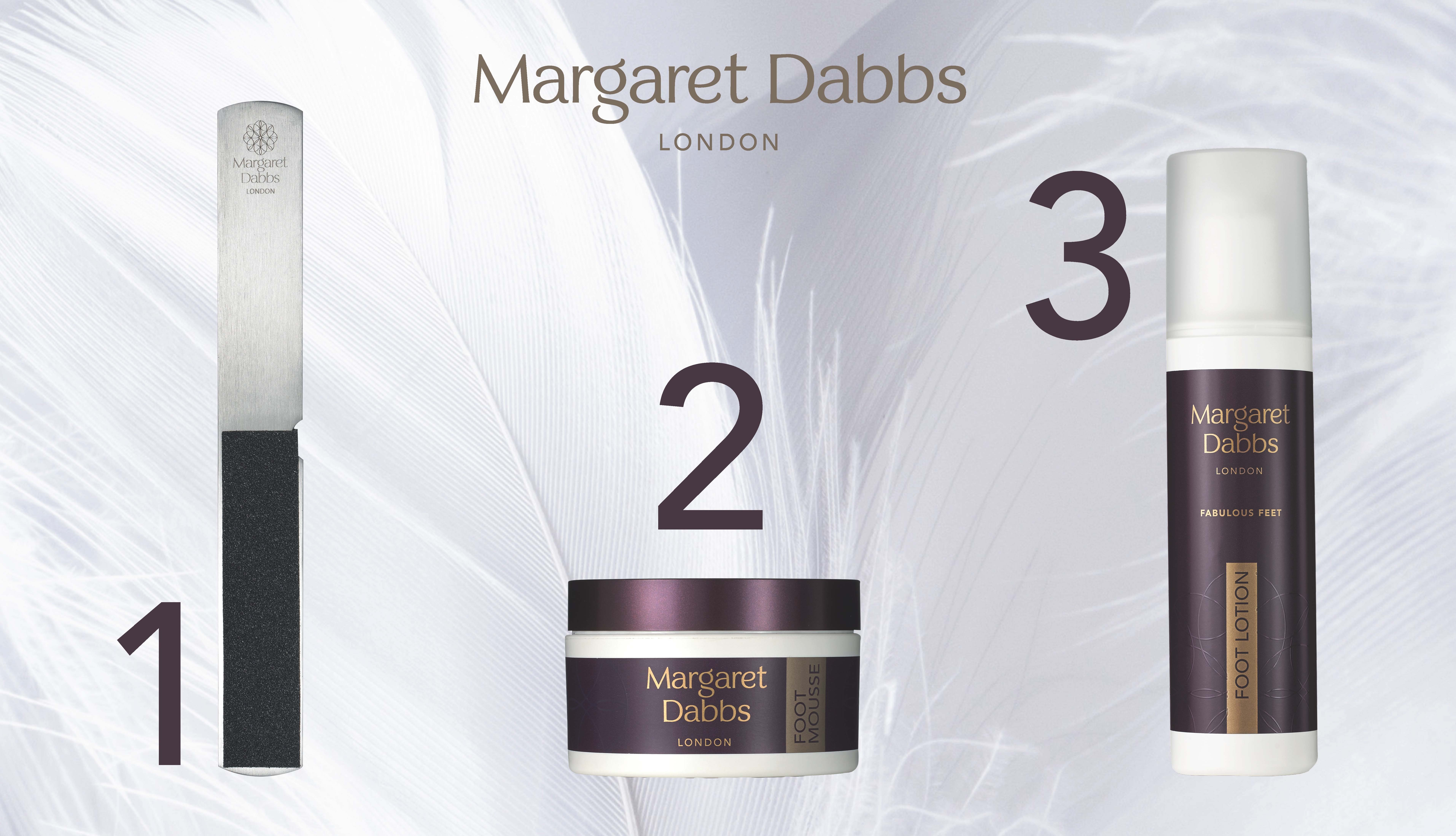3 steps Pies Fabulosos Margaret Dabbs